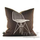 1951 in Chocolate and Sunshine Pillow