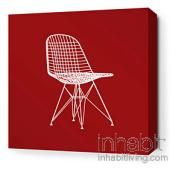 1951 in Scarlet and Chocolate Stretched Wall Art