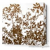 Brush in White Stretched Wall Art
