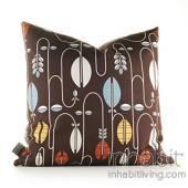 Carnival in Chocolate and Cornflower Pillow