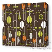 Carnival in Chocolate and Sunshine Stretched Wall Art