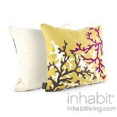 Coral in Plum Pillow