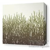 Field Grass in Moss Stretched Wall Art