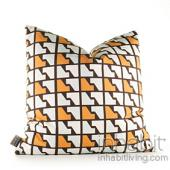 Faux Houndstooth in Sunshine Pillow