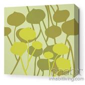 Seedling in Pale Green Stretched Wall Art
