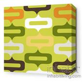 Smile in Lime Stretched Wall Art