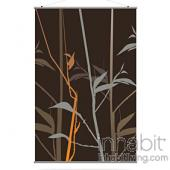 Tall Grass in Charcoal and Rust XL Slat