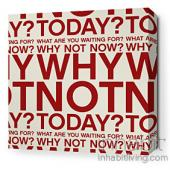 Why Not in Scarlet and Soy Stretched Wall Art