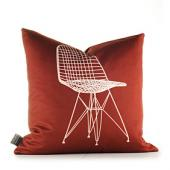 1951 in Scarlet and Chocolate Pillow