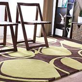 River Rock in Chocolate & Kiwi Hand-Tufted Wool Rug