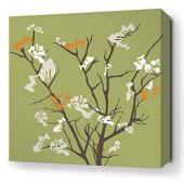 Ailanthus in Grass and Sunshine Stretched Wall Art
