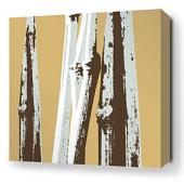 Bamboo in Aqua Stretched Wall Art