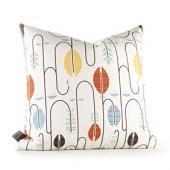 Carnival in White and Cornflower Pillow