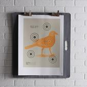 Crow Bullseye in Sunshine Print