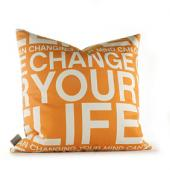 Change Your Life in Sunshine Pillow