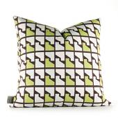 Faux Houndstooth in Grass Pillow
