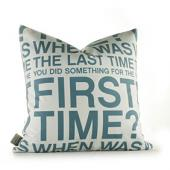 First Time in Cornflower Pillow
