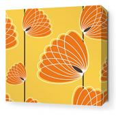Lotus in Sunflower and Sunshine Stretched Wall Art