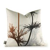 Prairie in Rust and Charcoal Pillow
