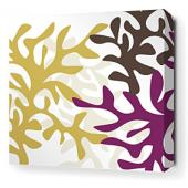 Reef in Plum Stretched Wall Art