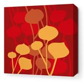 Seedling in Scarlet Stretched Wall Art