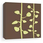 Bud in Chocolate Stretched Wall Art