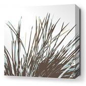Thatch in Aqua Stretched Wall Art