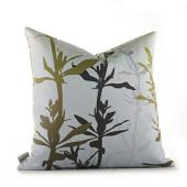 Wildflower in Silver and Olive Pillow