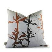 Wildflower in Silver and Rust Pillow