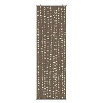 "Pussy Willows in Chocolate 24""x78"" Slat- OUTLET ITEM"