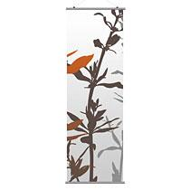 "Wildflower in Silver and Rust 2 24""x78"" Slat- OUTLET ITEM"