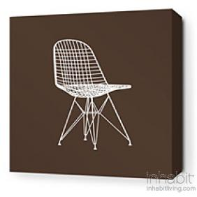 1951 in Chocolate and Sunshine Stretched Wall Art