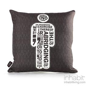 AM 1  in Natural & Soy Pillow
