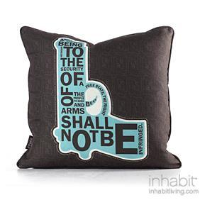 AM 2  in Cornflower Pillow