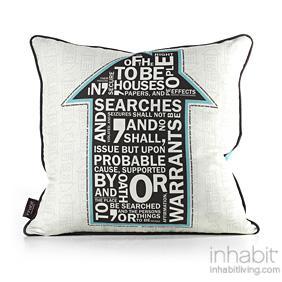 AM 4  in Cornflower Pillow