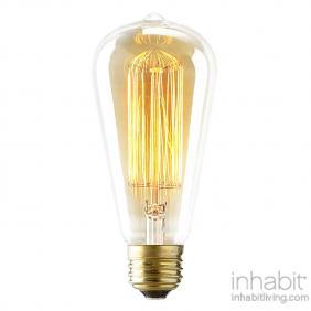 Vintage 60 Watt Reproduction Original Edison Light Bulb