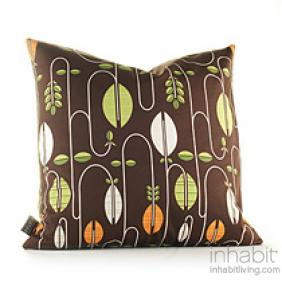 """Carnival in Chocolate and Sunshine : 18""""x18"""" Pillow - OUTLET"""