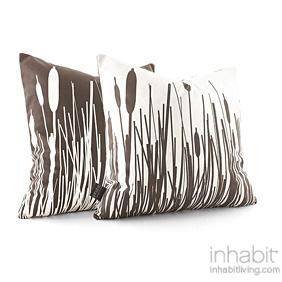 Cattails in Chocolate Pillow