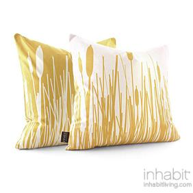 Cattails in Sherbet Pillow