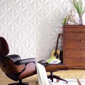 Chrysalis Wall Flats, 3D embossed wall tiles