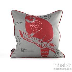 Coon Bullseye in Scarlet Pillow