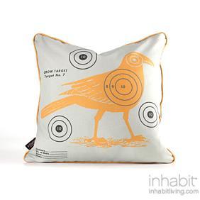Crow Bullseye in Sunshine Pillow