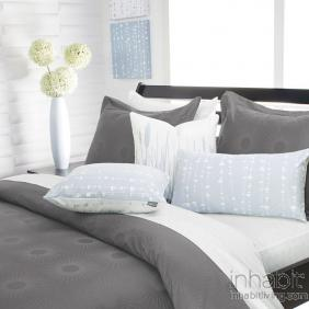 Estrella in Mineral Duvet Cover and Shams
