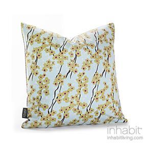 Flowering Pyrus in Cornflower Pillow