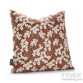 Flowering Pyrus in Rust Pillow