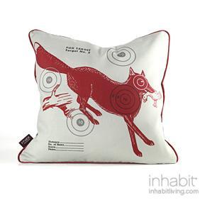 Fox Bullseye in Scarlet Pillow