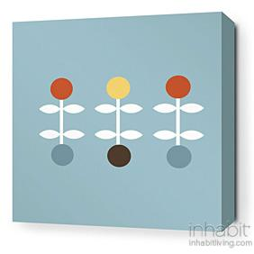 Giggle in Cornflower Stretched Wall Art