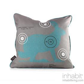 Jack Bullseye in Cornflower Pillow