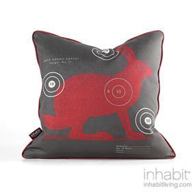 Jack Bullseye in Scarlet Pillow