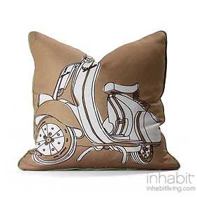 Moto in Camel & Grass Pillow